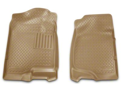 Husky Classic Front Floor Liners - Tan (07-13 Silverado 1500 Extended Cab, Crew Cab)