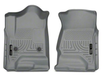Husky WeatherBeater Front Floor Liners - Gray (14-18 Silverado 1500 Double Cab, Crew Cab)