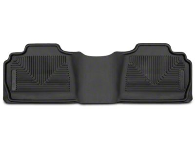 Husky X-Act Contour 2nd Seat Floor Liner - Black (07-13 Silverado 1500 Extended Cab, Crew Cab)