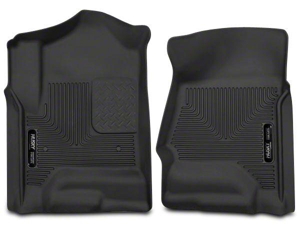 Husky X-Act Contour Front Floor Liners - Black (14-18 Silverado 1500 Double Cab, Crew Cab)
