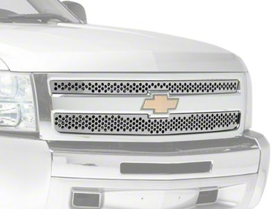 Punch Stainless Steel Upper Overlay Grilles - Polished (07-13 Silverado 1500)