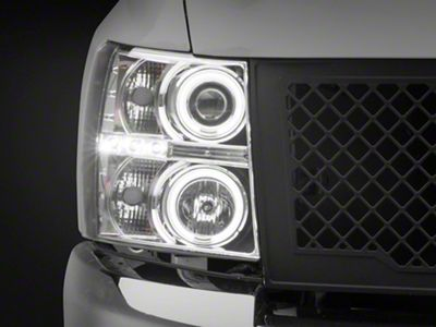 Axial Chrome Projector Headlights w/ CCFL Halo (07-13 Silverado 1500)