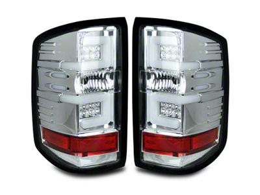 LED Tail Lights - Clear Lens (14-18 Silverado 1500 w/o Factory LED Tail Lights)
