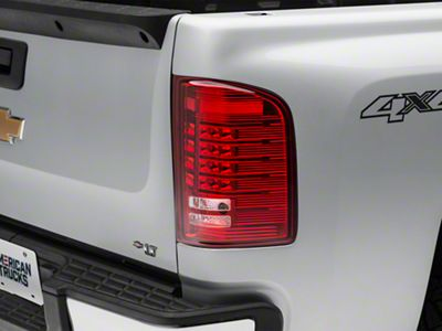 Axial Chrome LED Tail lights - Red Lens (07-13 Silverado 1500)