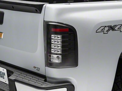 Axial Black LED Tail lights - Clear Lens (07-13 Silverado 1500)