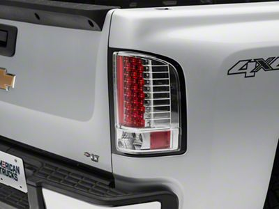 Axial Chrome LED Tail Lights - Clear Lens (07-13 Silverado 1500)