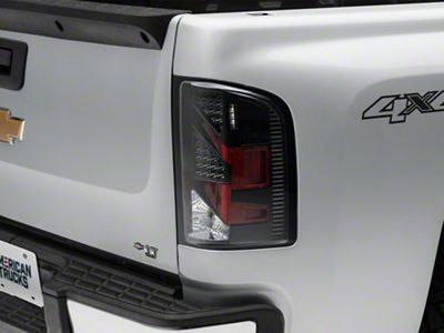 Axial Black/Red LED Tail Lights - Clear Lens (07-13 Silverado 1500)
