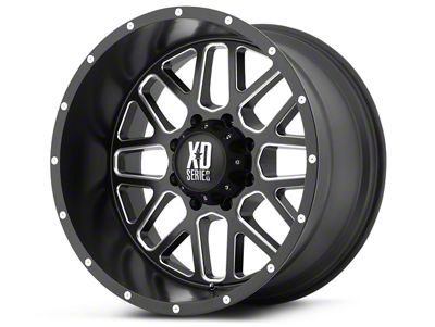 XD Grenade Satin Black Milled 6-Lug Wheel - 20x9 (99-18 Silverado 1500)