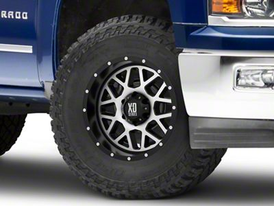XD Grenade Satin Black Machined 6-Lug Wheel - 17x9 (99-18 Silverado 1500)