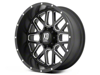 XD Grenade Satin Black Milled 6-Lug Wheel - 17x8.5 (99-18 Silverado 1500)
