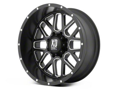 XD Grenade Satin Black Milled 6-Lug Wheel - 17x9 (99-18 Silverado 1500)