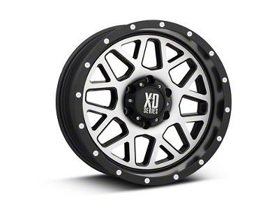 XD Grenade Satin Black Machined 6-Lug Wheel - 18x9 (99-18 Silverado 1500)