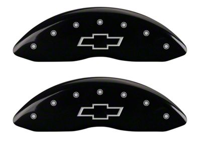 MGP Black Caliper Covers w/ Bowtie Logo - Front & Rear (07-13 Silverado 1500)