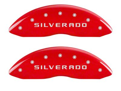 MGP Red Caliper Covers w/ Silverado Logo - Front & Rear (07-13 Silverado 1500)