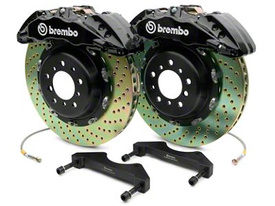 Brembo GT Series 6-Piston Front Brake Kit - 2-Piece Cross Drilled Rotors - Black (07-18 Silverado 1500)