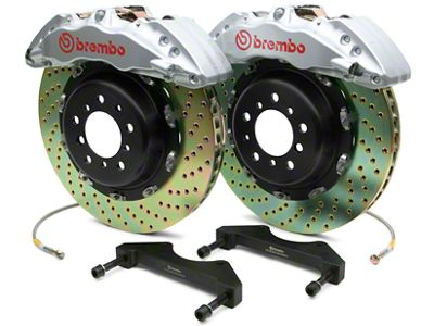 Brembo GT Series 6-Piston Front Brake Kit - 2-Piece Cross Drilled Rotors - Silver (07-18 Silverado 1500)