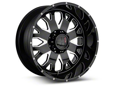 Havok Off-Road H104 Black Milled 6-Lug Wheel - 20x9 (99-18 Silverado 1500)