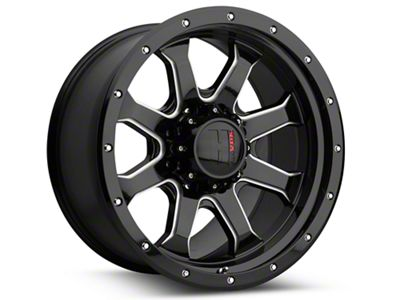 Havok Off-Road H105 Black Milled 6-Lug Wheel - 20x9 (99-18 Silverado 1500)