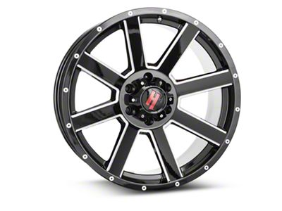 Havok Off-Road H109 Black Milled 6-Lug Wheel - 20x9 (99-18 Silverado 1500)
