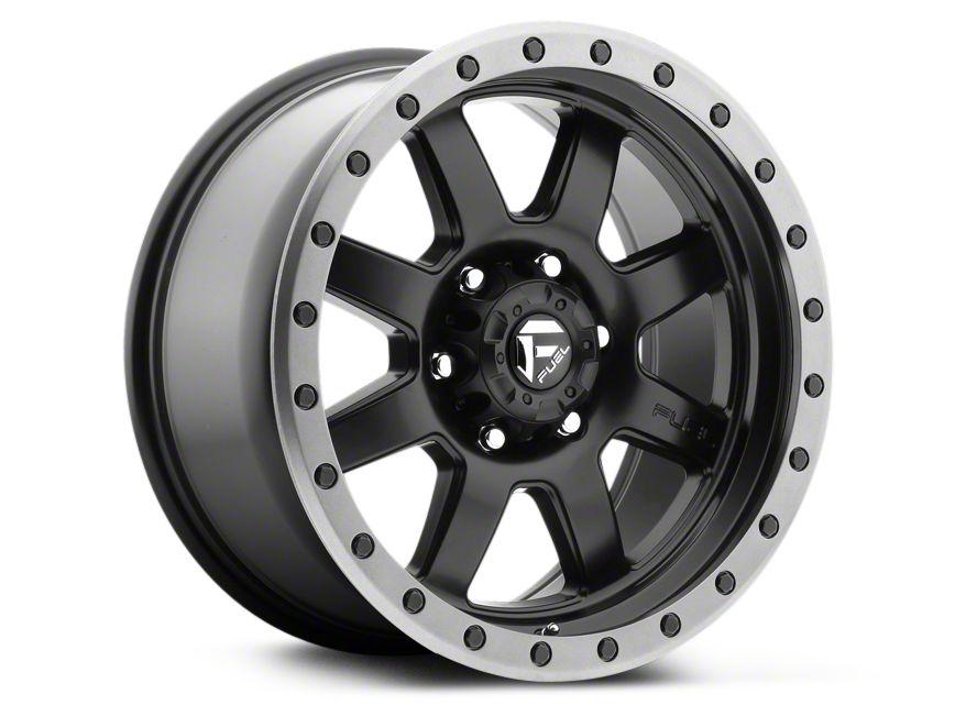 Fuel Wheels Trophy Matte Black w/ Anthracite Ring 6-Lug Wheel - 18x9 (99-18 Silverado 1500)