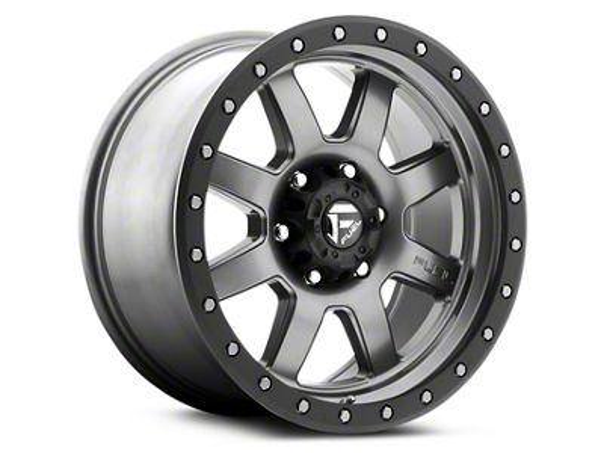 Fuel Wheels Trophy Anthracite w/ Black Ring 6-Lug Wheel - 18x9 (99-18 Silverado 1500)