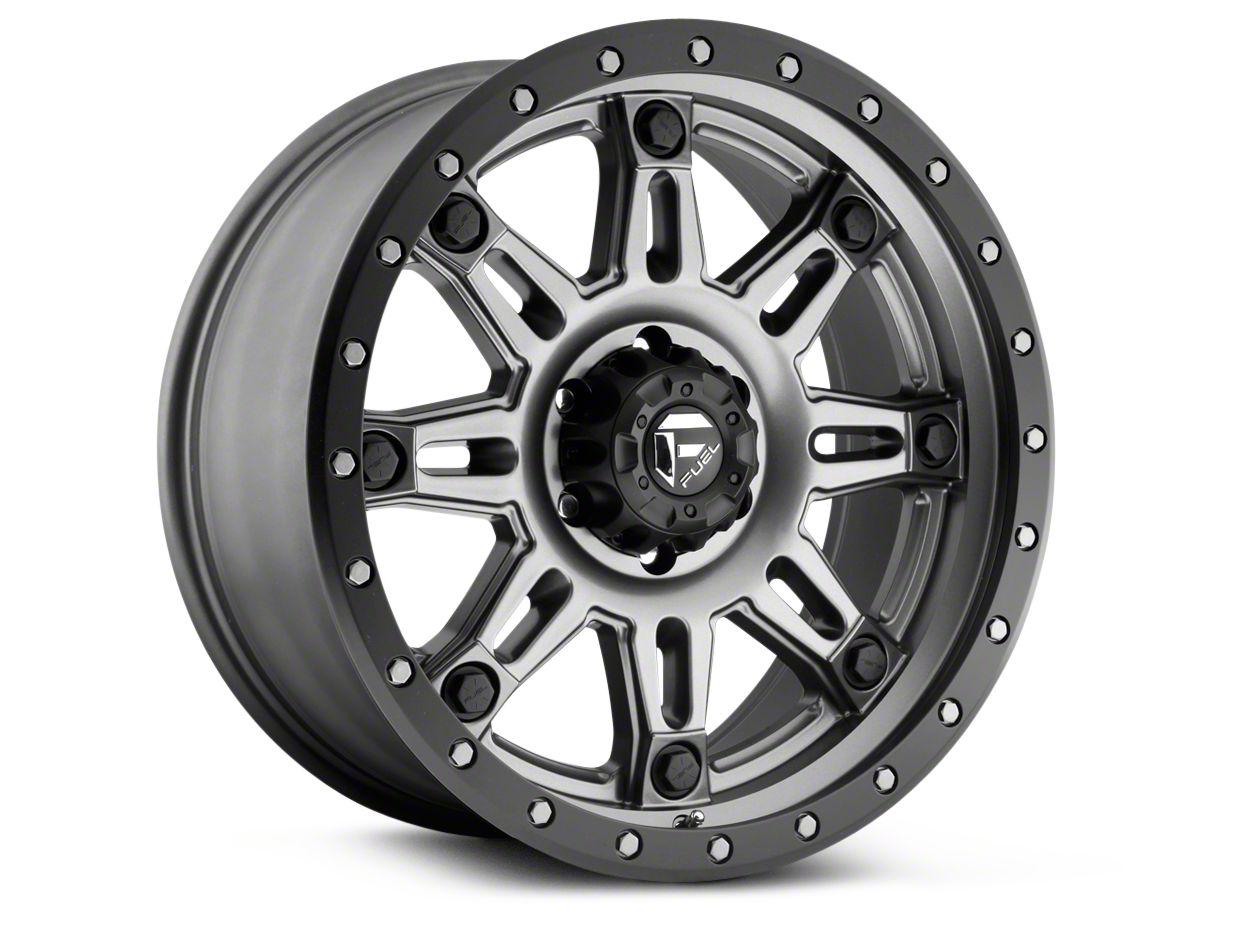Fuel Wheels Hostage III Anthracite w/ Black Ring 6-Lug Wheel - 17x9 (99-18 Silverado 1500)