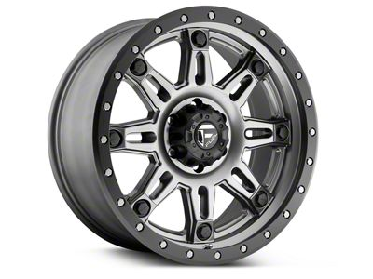 Fuel Wheels Hostage III Anthracite w/ Black Ring 6-Lug Wheel - 18x9 (99-19 Silverado 1500)