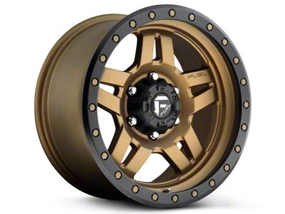 Fuel Wheels Anza Matte Bronze w/ Black Ring 6-Lug Wheel - 20x9 (99-19 Silverado 1500)
