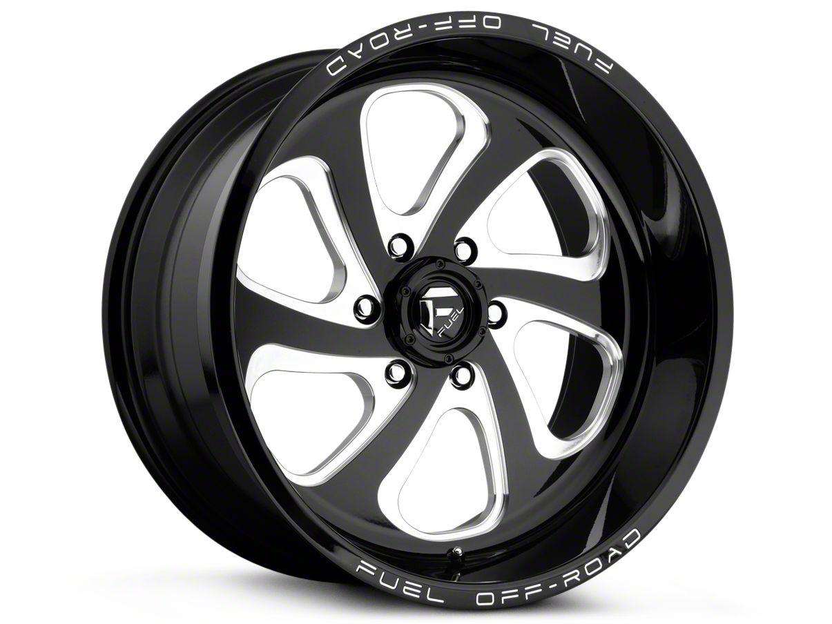 Fuel Wheels Flow Gloss Black Milled 6-Lug Wheel - 17x9 (99-18 Silverado 1500)