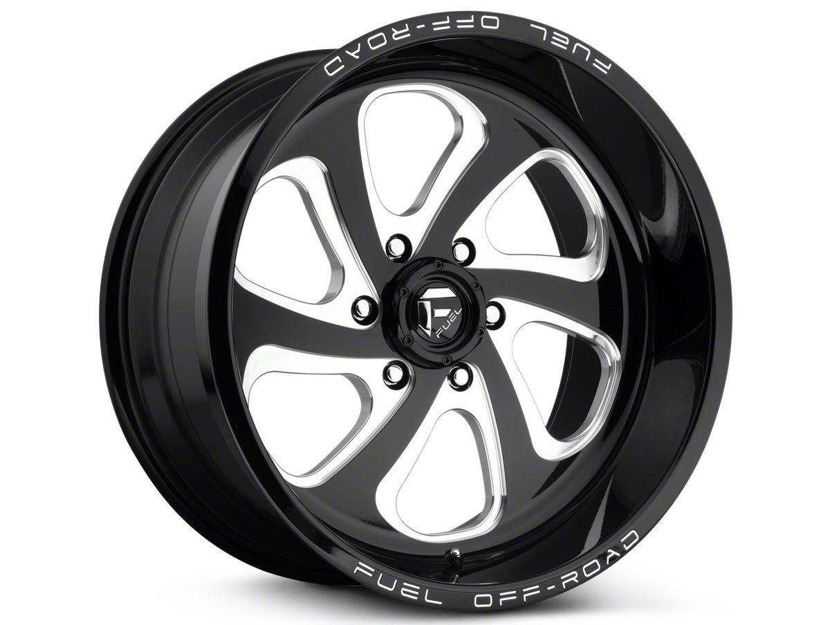 Fuel Wheels Flow Gloss Black Milled 6-Lug Wheel - 20x9 (99-18 Silverado 1500)