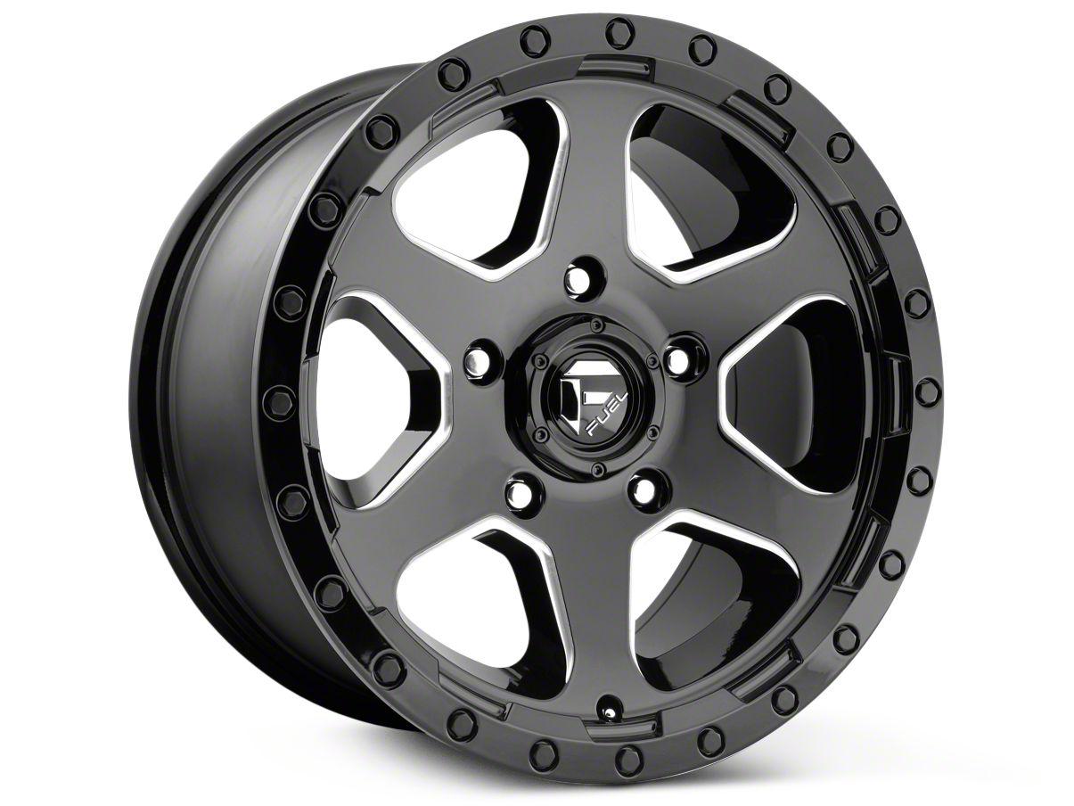 Fuel Wheels Ripper Gloss Black Milled 6-Lug Wheel - 17x9 (99-18 Silverado 1500)