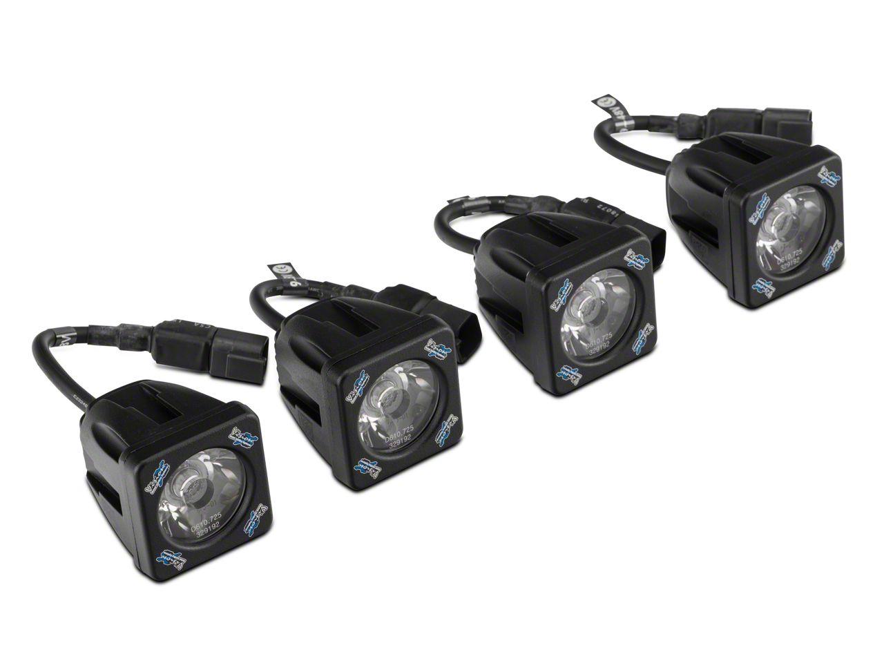 Vision X Fog Light Mounting Kit w/ Square LED Lights (07-13 Silverado 1500)