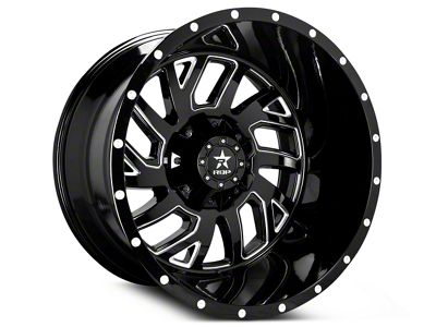 RBP 65R Glock Gloss Black Machined 6-Lug Wheel - 22x14 (99-18 Silverado 1500)