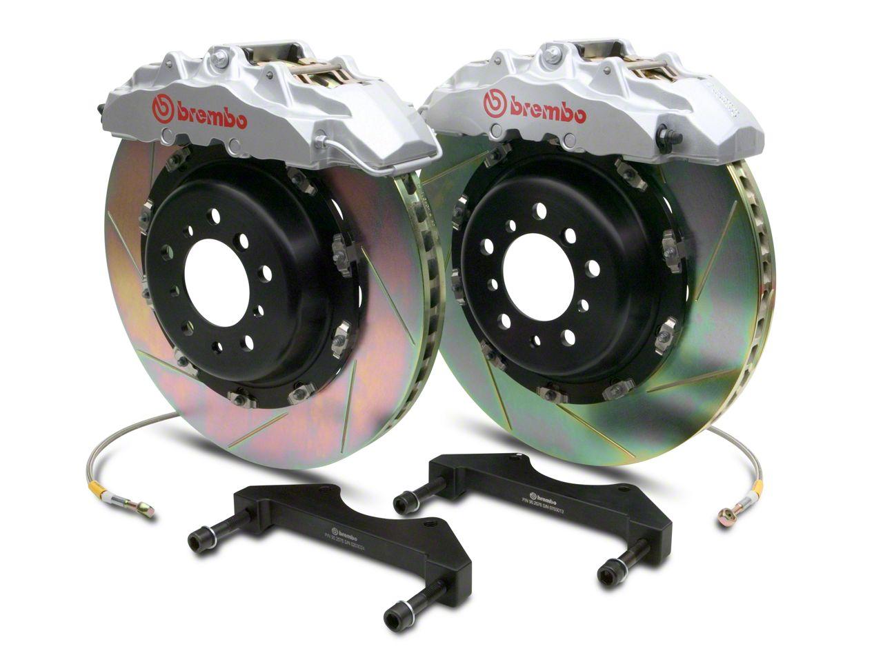 Brembo GT Series 8-Piston Front Brake Kit - 2-Piece Slotted Rotors - Silver (00-06 Silverado 1500)
