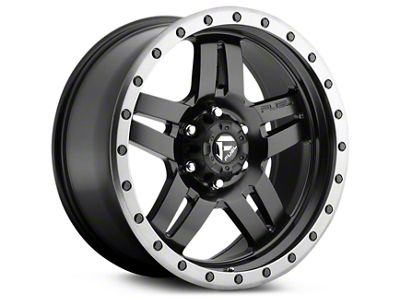 Fuel Wheels Anza Matte Black w/ Anthracite Ring 6-Lug Wheel - 20x9 (99-18 Silverado 1500)
