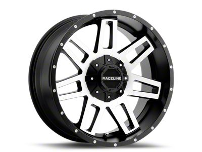 Raceline Injector Black Machined 6-Lug Wheel - 18x9 (99-18 Silverado 1500)