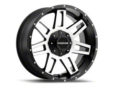 Raceline Injector Black Machined 6-Lug Wheel - 20x9 (99-18 Silverado 1500)