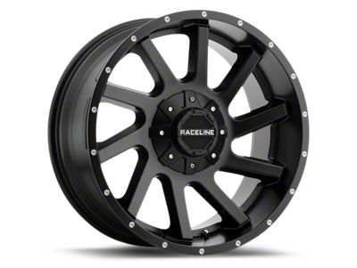 Raceline Twist Black 6-Lug Wheel - 20x9 (99-18 Silverado 1500)