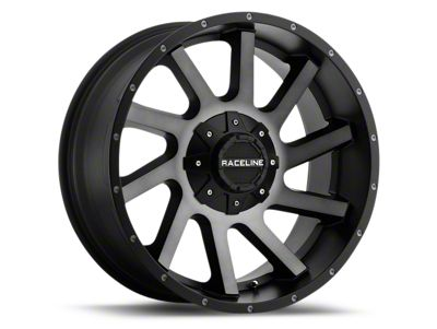 Raceline Twist Black Machined w/ Dark Tint 6-Lug Wheel - 20x9 (99-18 Silverado 1500)