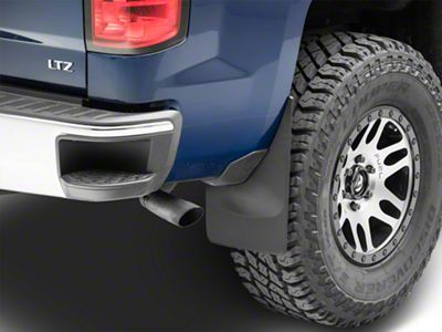 Weathertech No Drill Rear MudFlaps - Black (14-18 Silverado 1500 w/o Fender Flares)