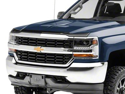 Weathertech Low Profile Hood Protector - Dark Smoke (16-18 Silverado 1500)