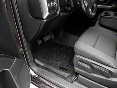 Weathertech DigitalFit Front & Rear Floor Liners w/ Underseat Coverage - Over The Hump - Black (14-18 Silverado 1500 Crew Cab)
