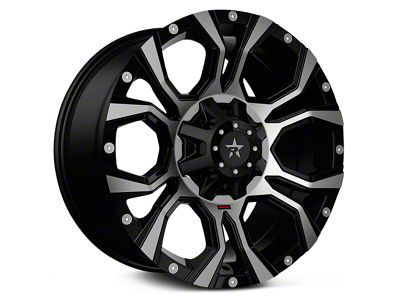 RBP 64R Widow Machined Black 6-Lug Wheel - 20x10 (99-18 Silverado 1500)