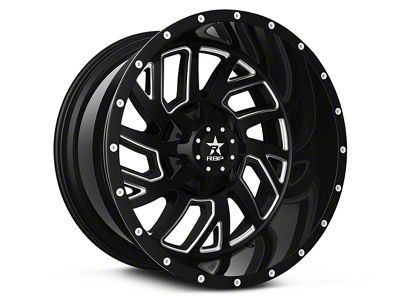 RBP 65R Glock Gloss Black Machined 6-Lug Wheel - 20x10 (99-18 Silverado 1500)