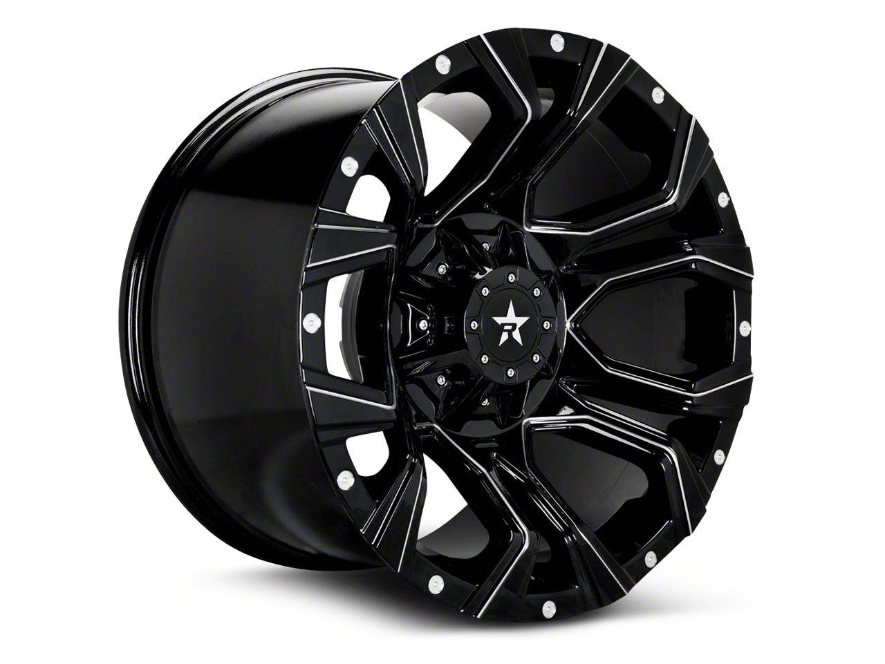 RBP 64R Widow Gloss Black Machined 6-Lug Wheel - 18x9 (99-19 Silverado 1500)