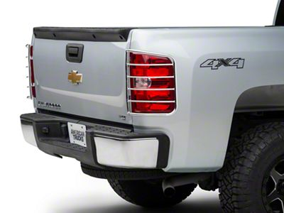 Barricade Tail Light Guard - Polished Stainless (07-13 Silverado 1500)
