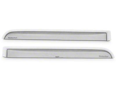 Weathertech Rear Side Window Deflectors - Light Smoke (14-18 Silverado 1500 Double Cab, Crew Cab)