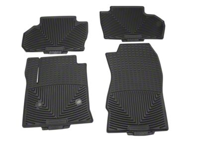 Weathertech All Weather Front & Rear Rubber Floor Mats - Black (14-18 Silverado 1500 Double Cab, Crew Cab)