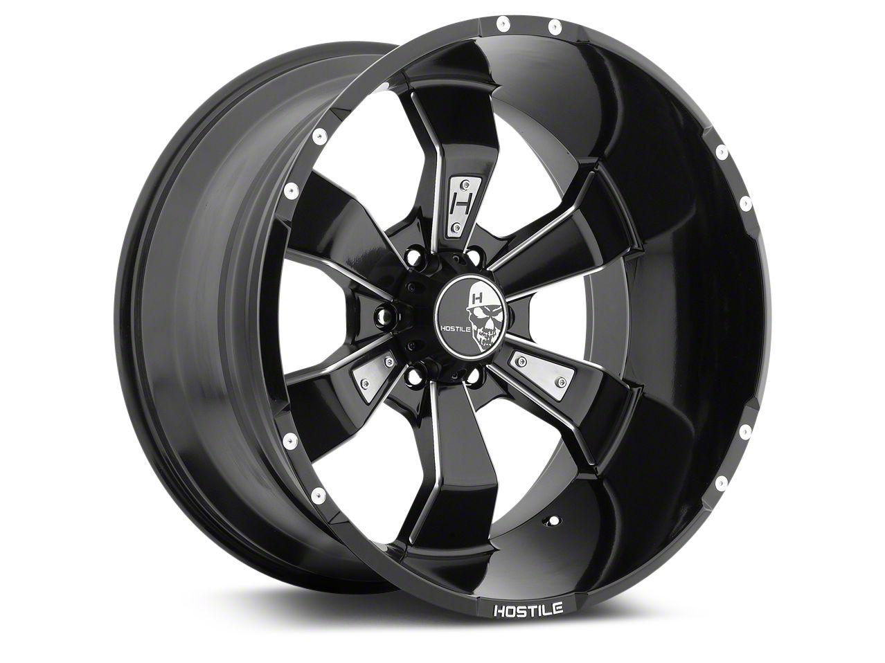 Hostile Hammered Blade Cut 6-Lug Wheel - 20x9 (07-18 Silverado 1500)
