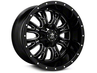 RBP 89R Assassin Gloss Black Machined 6-Lug Wheel - 20x10 (99-18 Silverado 1500)
